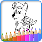 How to color Paw Patrol coloring book for adult