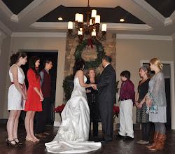Photo: Married at home 12/22/11 - http://WeddingWoman.net