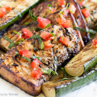 Lime Basil Grilled Swordfish Steaks.