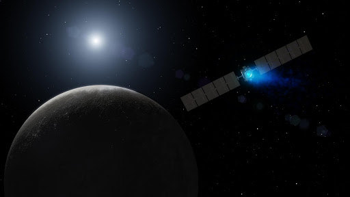 Dawn Arrival at Dwarf Planet Artist Concept