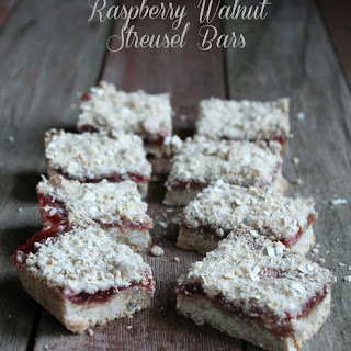 Walnut Raspberry Streusel Bars