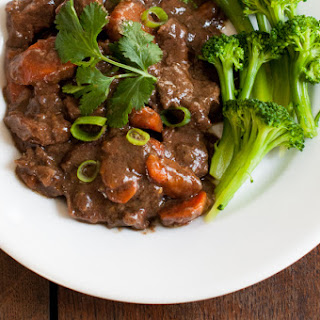 Chinese Braised Beef with Carrots.