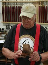 Photo: Bob also made a triangular bowl from a laminated cube...