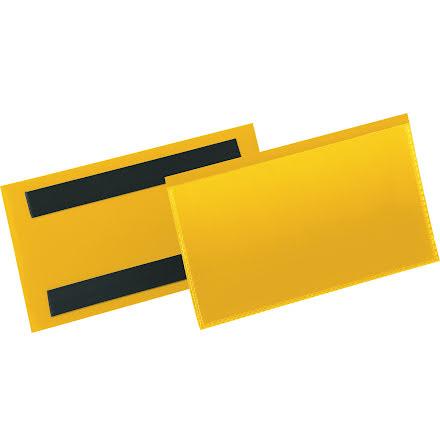 Etiketthåll. mag. 150x67mm gul