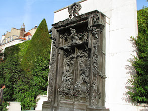 Photo: The Gate to Hell. Rodin incorporated all his work into this one sculpture.