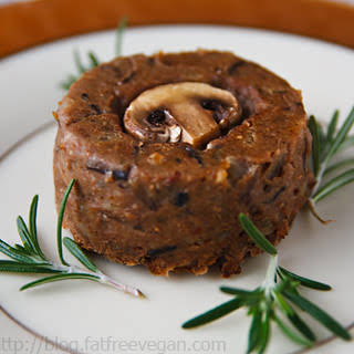 Mushroom, Lentil, and Wild Rice Timbales.