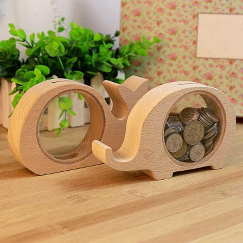 Оригинальные копилки из дерева