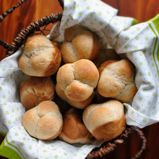 Honey Wheat Cloverleaf Dinner Rolls