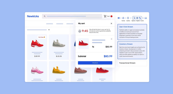 Screenshot from a shopping app, displaying two rows of four shoes