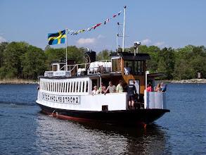 Photo: Fjäderholmslinjen kostar 130 kr till Fjäderholmarna för T/R.