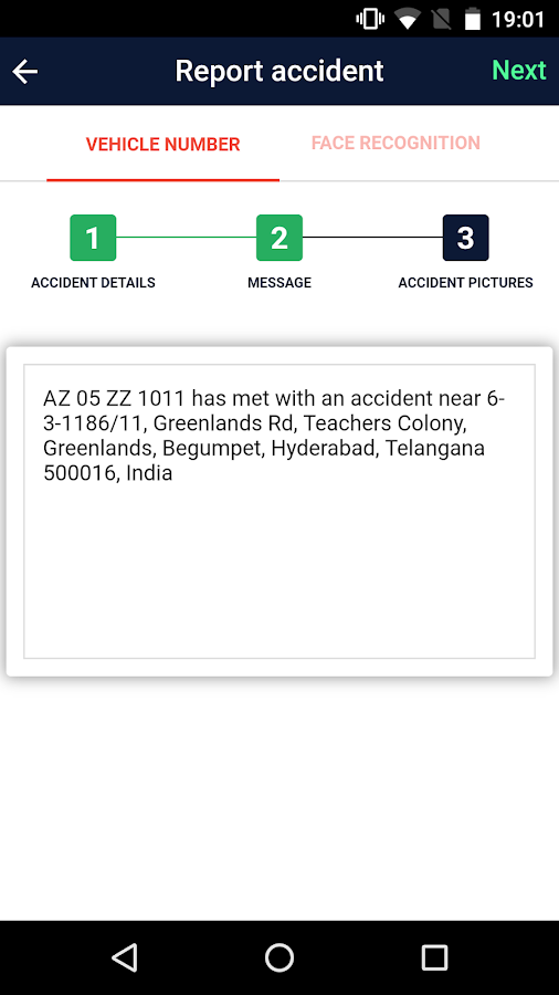 Accident Informer- screenshot