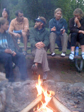 Photo: Talking runnin' -  night before at Beacon Rock State Campground