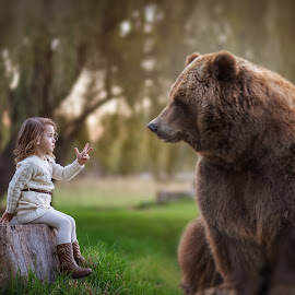 Counting with Harold by Geraldine Enslin - Digital Art People ( love, child, happy, fine art photography, artistic, lady, children, cute, education, artwork )