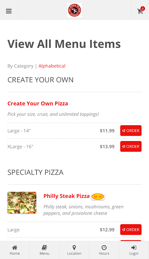 My Pizza Place Ordering- screenshot