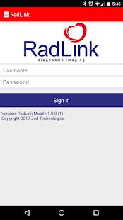RadLink Mobile - náhled