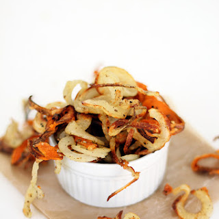 Garlic Asiago Baked Spiralized Fries