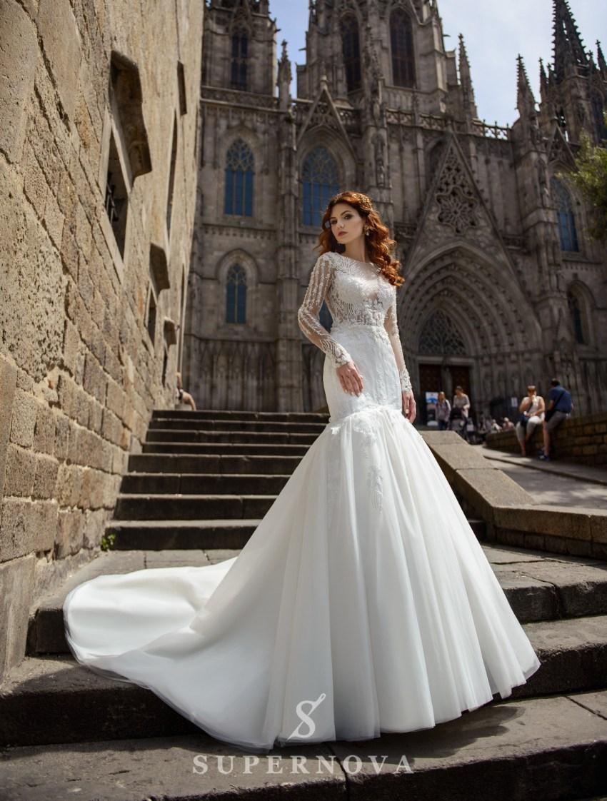 Свадебное платье рыбка оптом