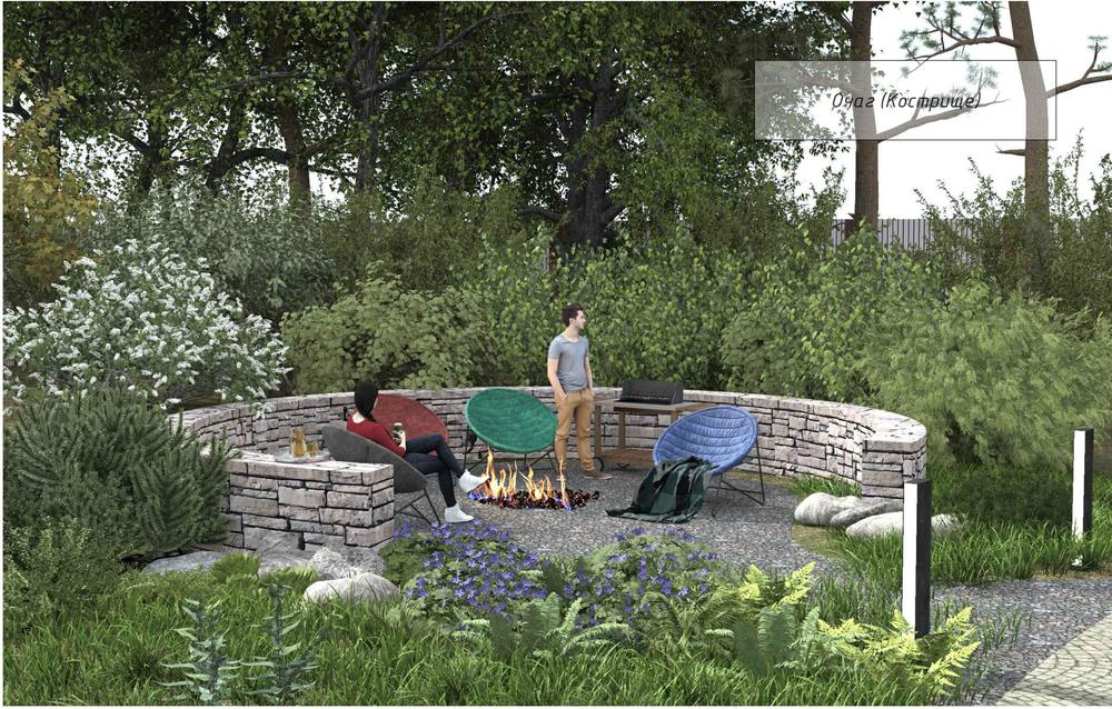 Проектирование зоны отдыха в саду