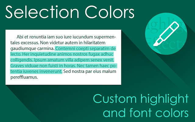 Selection Colors