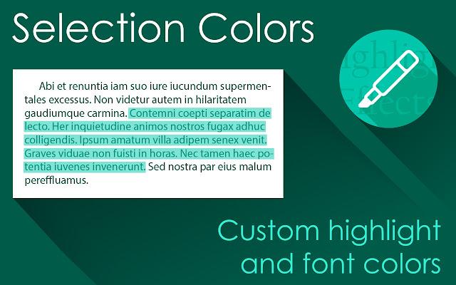 Selection Colors