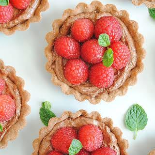 Raspberry Nutella Tart.