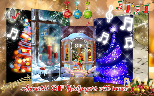Christmas Songs Live Wallpaper with Music ud83cudfb6 2.8 screenshots 9