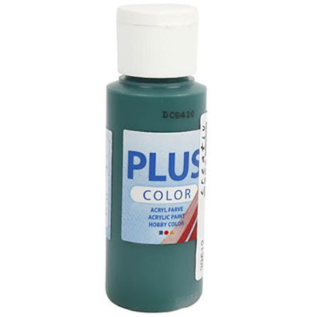 Hobbyfärg Plus color - mörkgrön, 60 ml