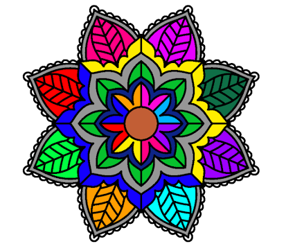 Coloring Book For Me And Adults With Mandala Poster