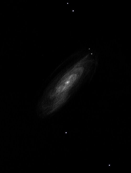 Photo: M88 dans la coma de Bérénice. Au T406 à 220X.
