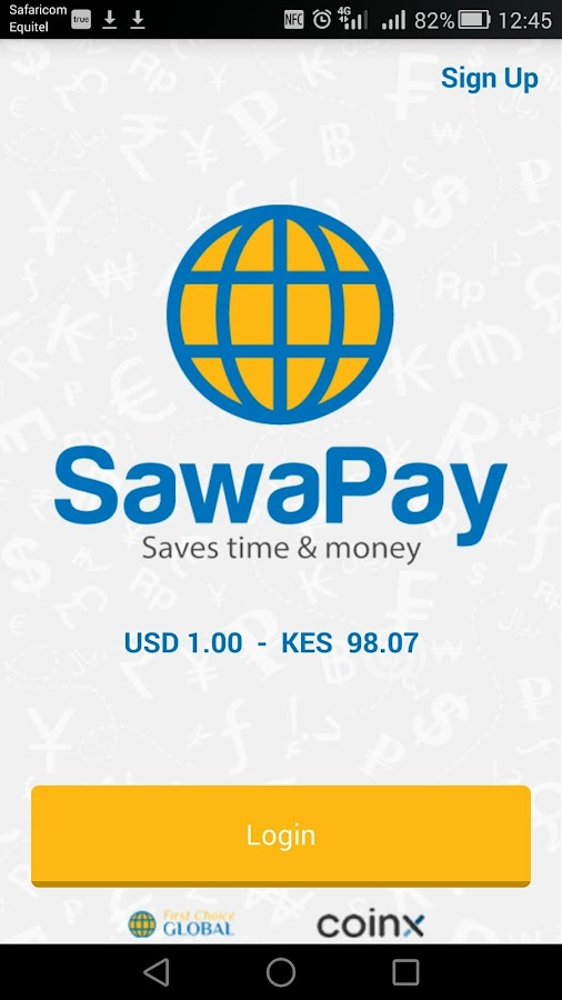SawaPay - Money to Kenya + Zimbabwe- screenshot