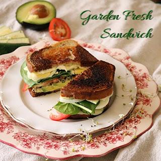 Garden Fresh Veggie Sandwich