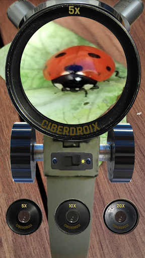 برنامه میکروسکوپ  برای مشاهده مواد ریز