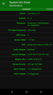 System Info Droid (Info, Tools and Benchmark) Screenshot