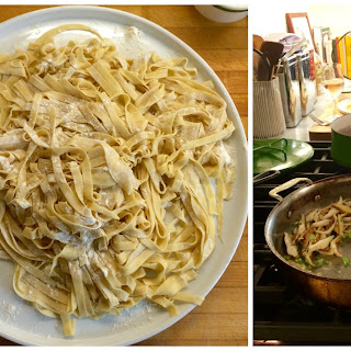 Fettuccine with Mushrooms and Spring Chives
