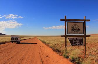 Photo: 12 km links de woestijn in voor een mooie slaapplaats in Namibië