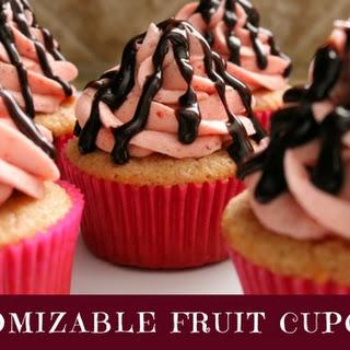 Customizable Fruit Cupcakes.