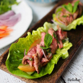 Thai Beef Salad Wraps