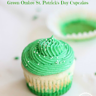 Green Ombre St. Patrick's Day Cupcakes.