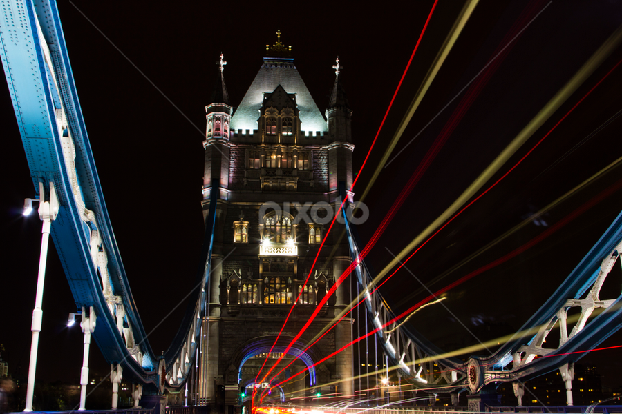 London Bridge at Night by Naresh Keswani - City,  Street & Park  Street Scenes