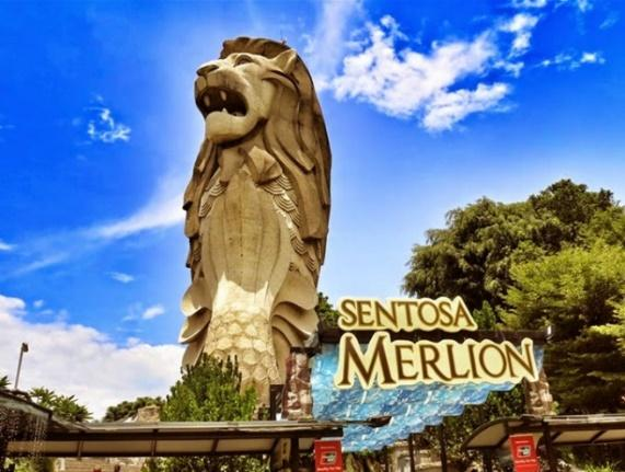 Hasil gambar untuk MERLION SENTOSA