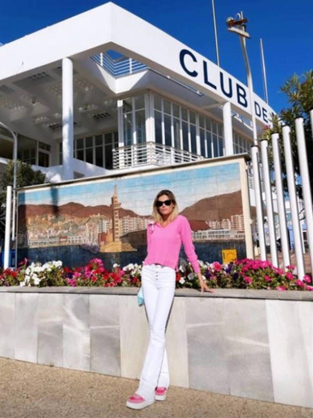 Ana Soria en el Club de Mar, en una imagen compartida en su Instagram.