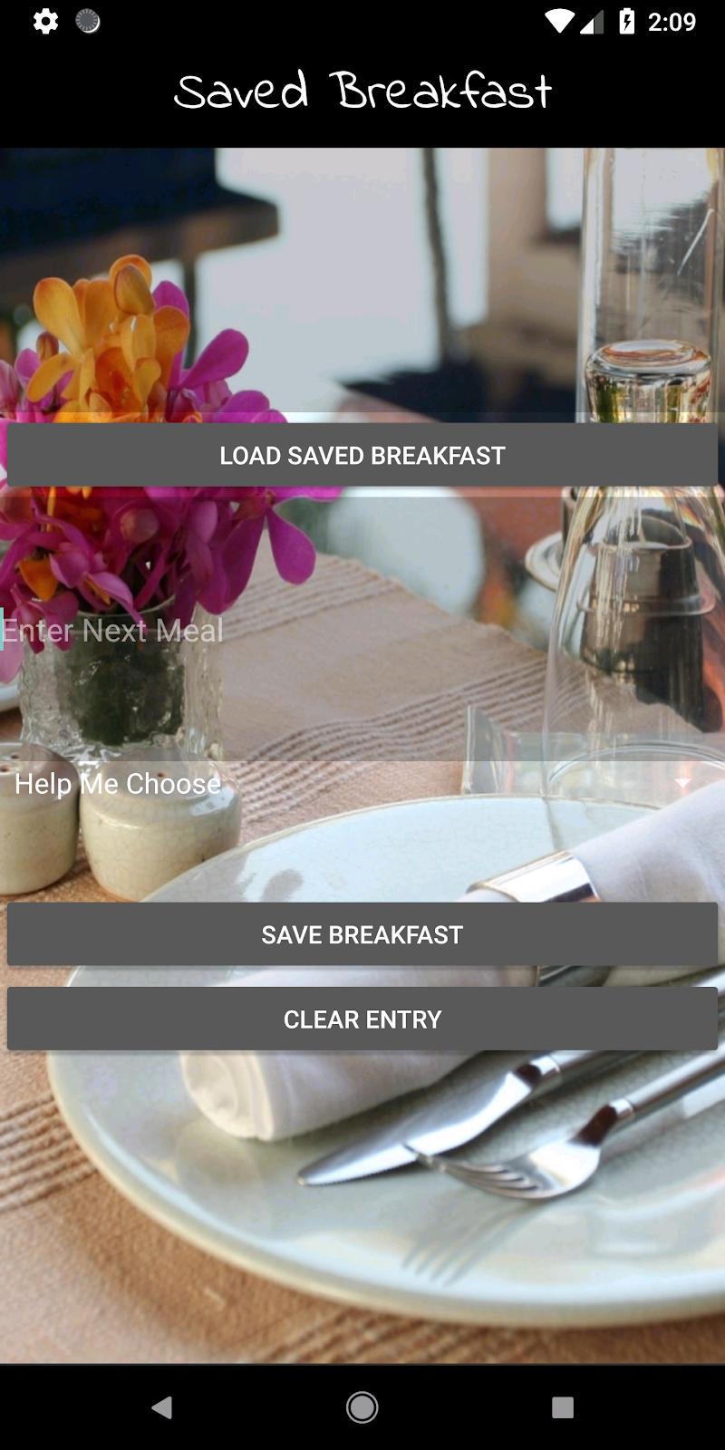 Скриншот Vegan Meal Planner