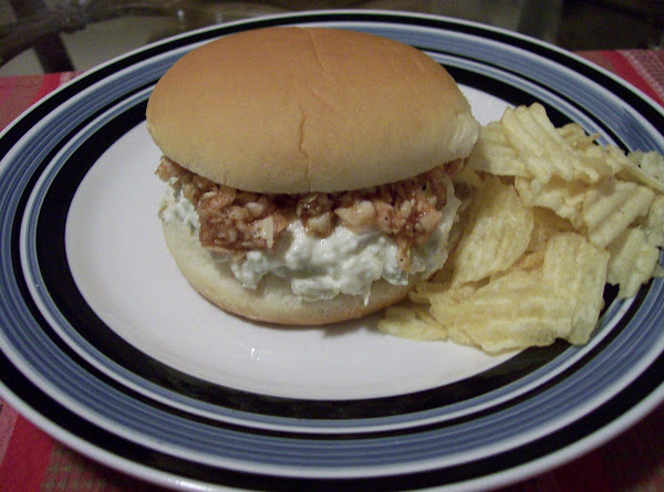 Chicken Salad Sandwich With Bbq Slaw Recipe