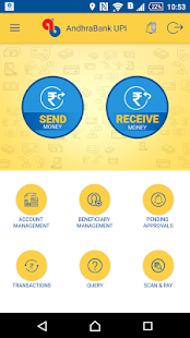 Andhra Bank ONE – UPI App- screenshot thumbnail