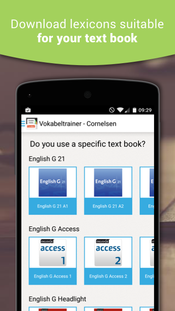 Vokabeltrainer - Cornelsen- screenshot