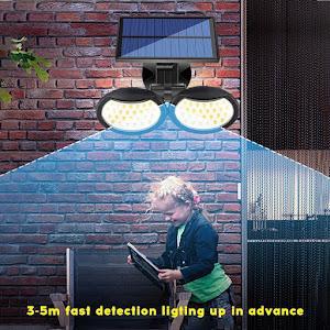 Lampa solara dubla 56 LED cu senzor de miscare