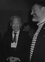 """Photo: DAVOS/SWITZERLAND, JAN 1990 - Prime Minister Lee Kuan Yew of Singapore captured at the Annual Meeting of the World Economic Forum in Davos in 1990. Copyright <a href=""""http://www.weforum.org"""">World Economic Forum</a> (<a href=""""http://www.weforum.org"""">http://www.weforum.org</a>)"""