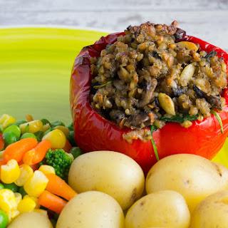 Vegan Haggis Stuffed Pepper