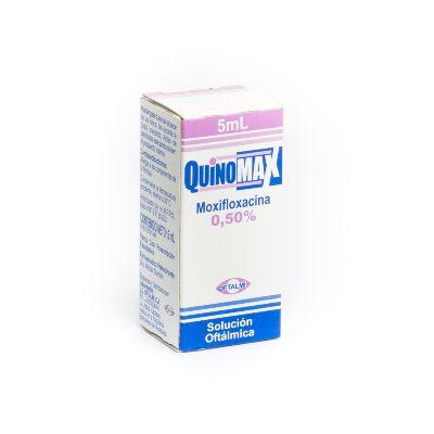 Moxifloxacina Quinomax Solución Oftálmica 0,5% X 5 Ml Oftalmi