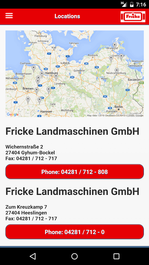 Fricke Landmaschinen- screenshot